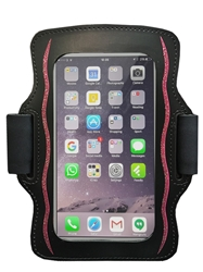 Womens Smartphone Armband - Black / Pink