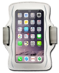 Womens Smartphone Armband - White / Silver